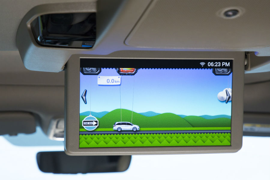 how much farther shown on rear seat entertainment system in 2018 Honda Odyssey