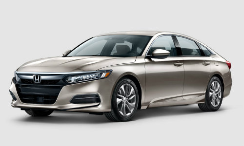 2018 Honda Accord Beige Sedan showroom shot