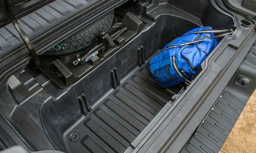 2018 Honda Ridgeline folded up truck bed
