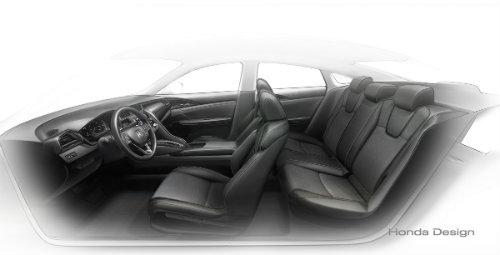 2019 Honda Insight Prototype interior seating