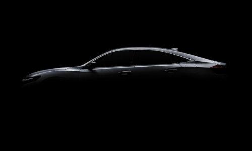 2019 Honda Insight Prototype shadow in dark showroom
