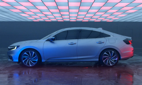 2019 Honda Insight Prototype exterior side shot showroom