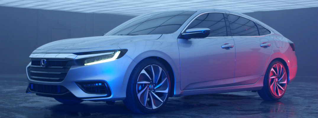 2019 Honda Insight Hybrid Prototype showcase mood lighting