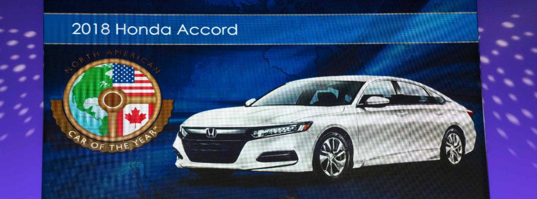 2018 Honda Accord Wins North American Car Of The Year Award