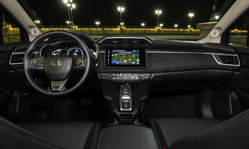2018 Honda Clarity Plug-In Hybrid interior steering and dashboard