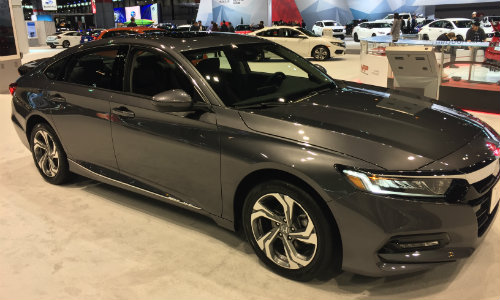 2019 Honda Accord Chicago Auto Show exterior angle shot