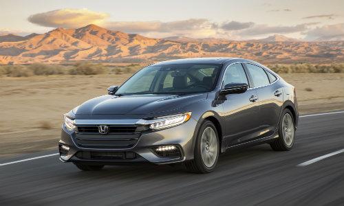 2019 Honda Insight sedan new york international auto show exterior shot driving down a desert highway
