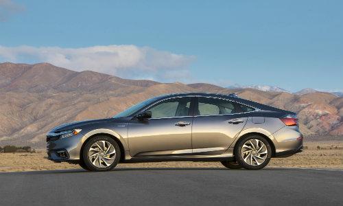 2019 Honda Insight Sedan New York International Auto Show Exterior Side  Shot Desert Background