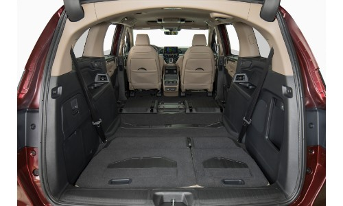2019 honda odyssey interior adjustable cargo space of open for Honda hrv cargo space