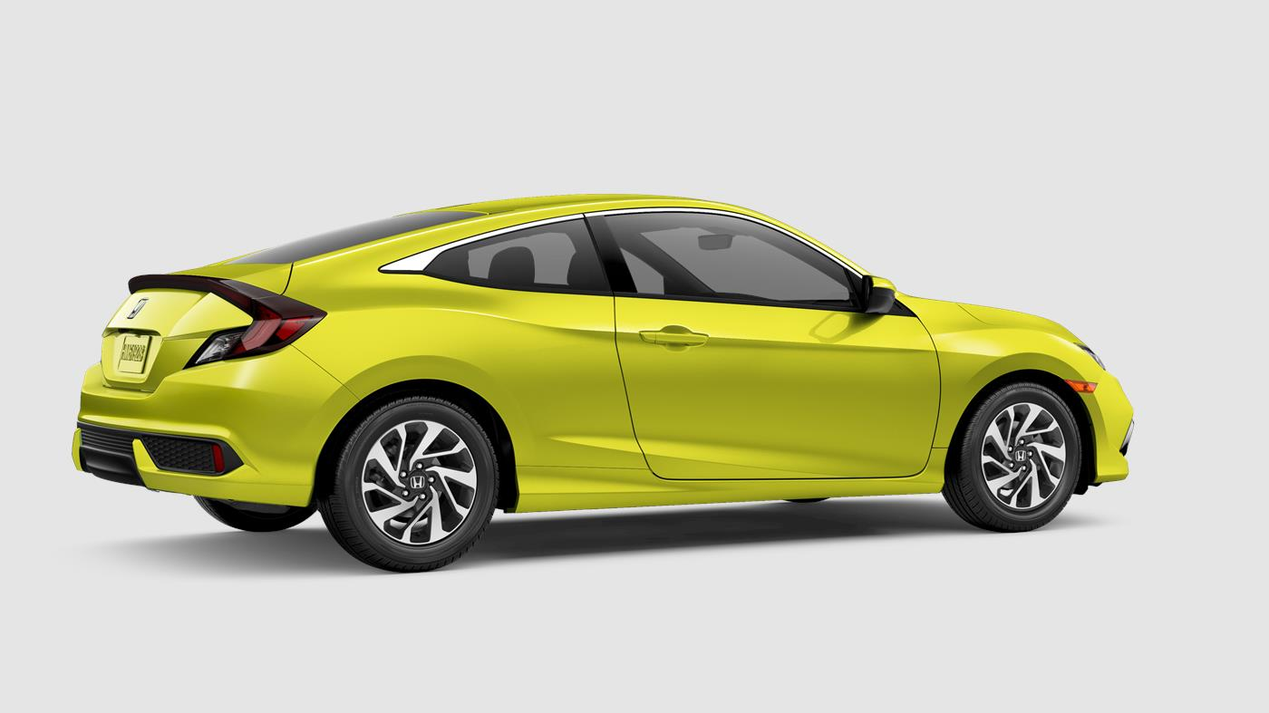 2019 Honda Civic Coupe Tonic Yellow Pearl