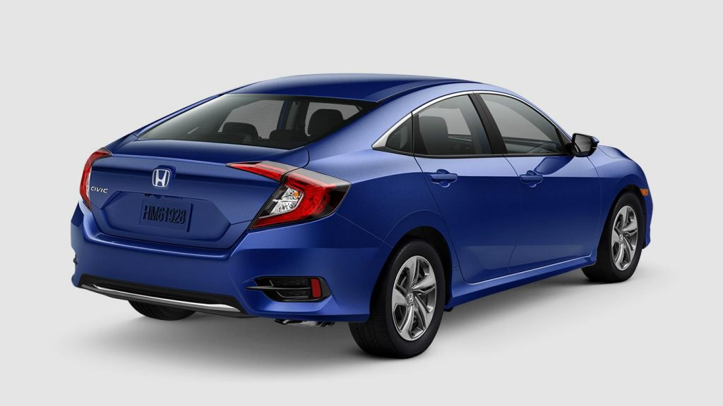 2019 Honda Civic Sedan Aegean Blue Metallic O Rossi Honda