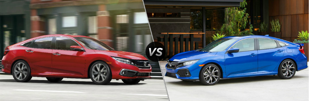 2019 Honda Civic Sedan vs 2019 Honda Civic Si Sedan
