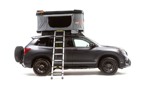 2019 Honda Passport Adventure Lifestyle Project exterior side shot promo from Overland Expo West