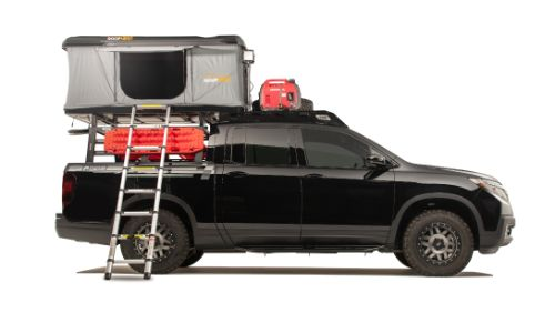 2019 Honda Ridgeline Adventure Lifestyle Project exterior side shot promo from Overland Expo West