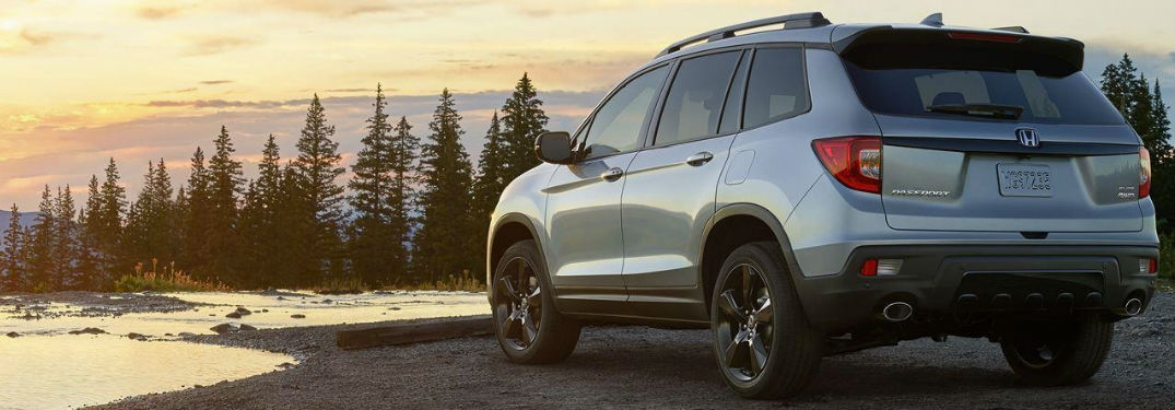 2019 Honda Passport rear in gray