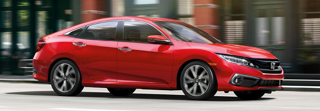 2019 Honda Civic in red