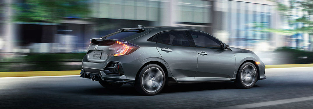 2020 Honda Civic Hatchback Touring in gray