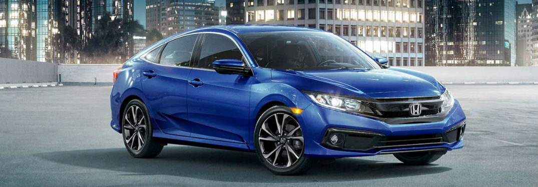 2020 Honda Civic in blue
