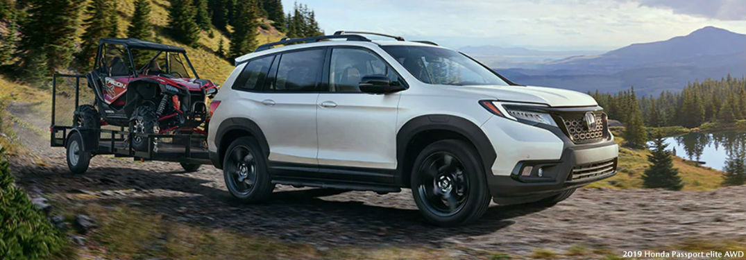 2019 Honda Passport Elite AWD in white