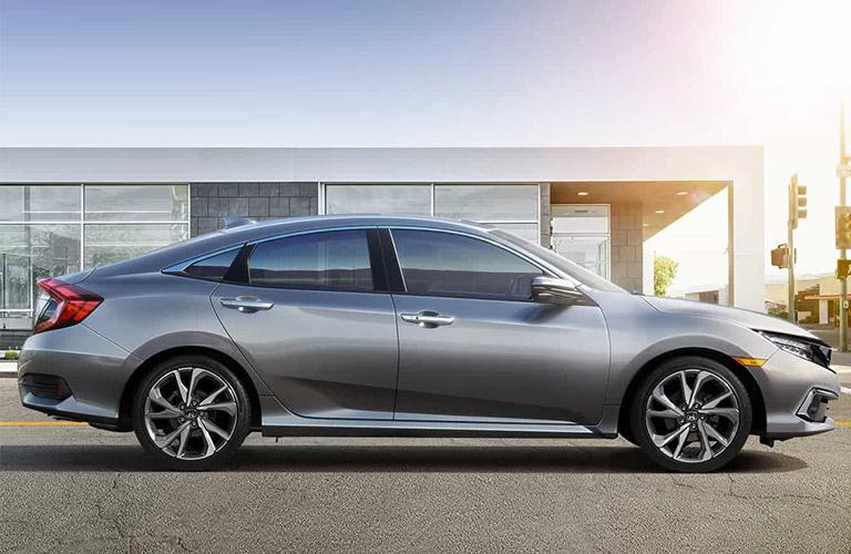 2021 Honda Civic sedan in gray