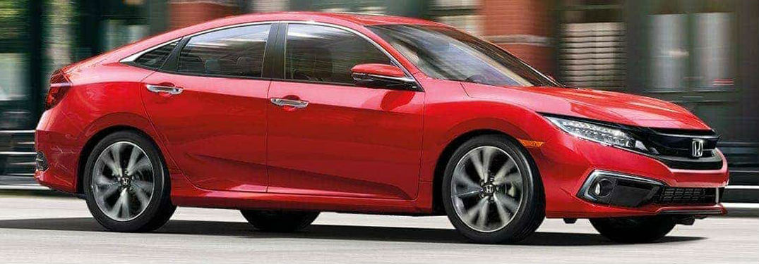 2021 Honda Civic in red