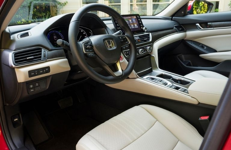 2021 Honda Accord Steering Wheel and Front Seat Interior