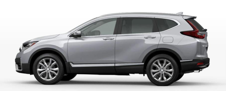 Lunar Silver Metallic 2021 Honda CR-V on White Background