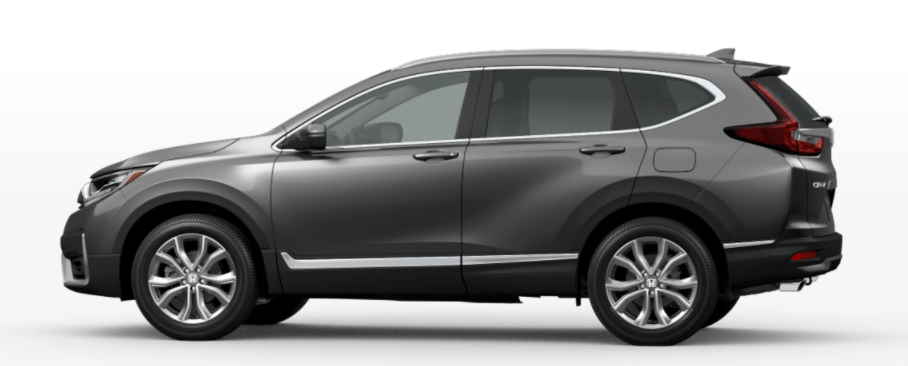 Modern Steel Metallic 2021 Honda CR-V on a White Background
