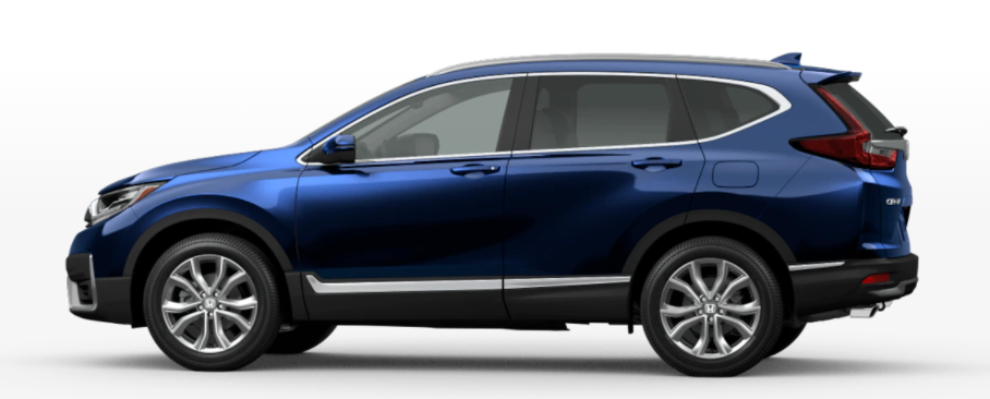 Obsidian Blue Pearl 2021 Honda CR-V on White Background