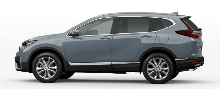 Sonic Gray Pearl 2021 Honda CR-V on White Background