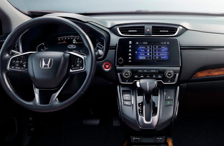 2021 Honda CR-V steering wheel and center console