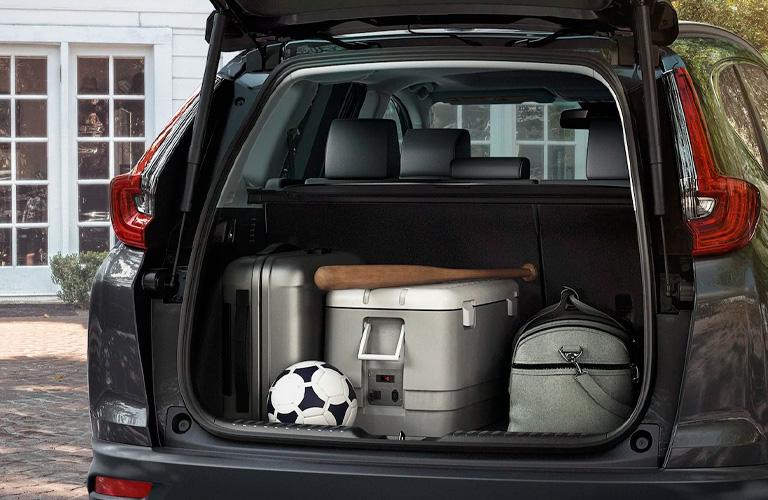 2021 Honda CR-V cargo area loaded up