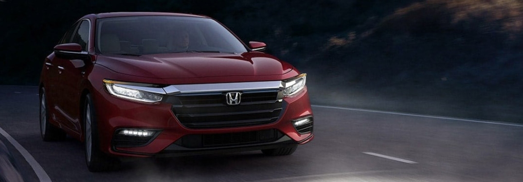 2021 Honda insight going down the road