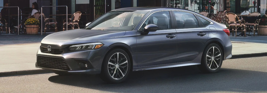 2022 Honda Civic sedan parked on the side of the road