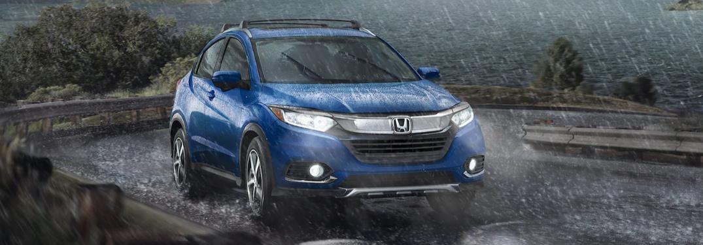 2021 Honda HR-V driving in the rain
