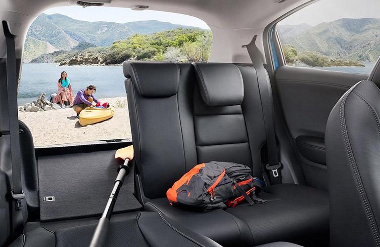2021 Honda HR-V partly folded down back seat
