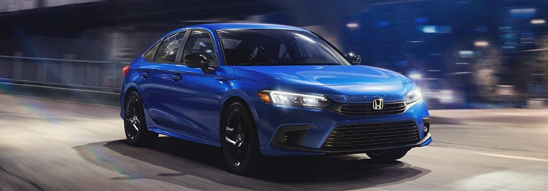 2022 Honda Civic Sedan going down the road