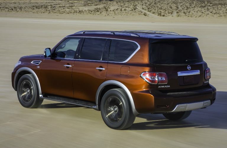 2017 Nissan Armada exterior rear side