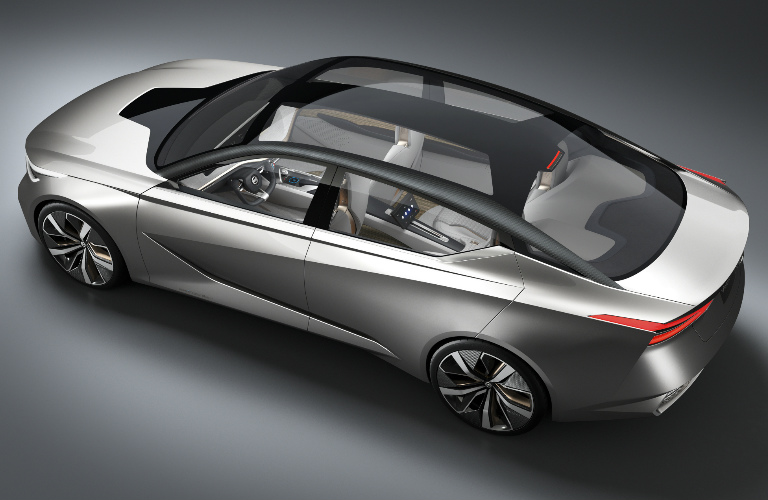 Nissan Vmotion 2.0 concept car top angle