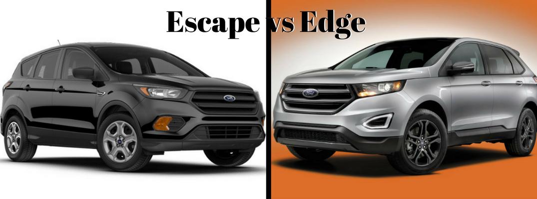 Ford Escape Vs Edge Header Image