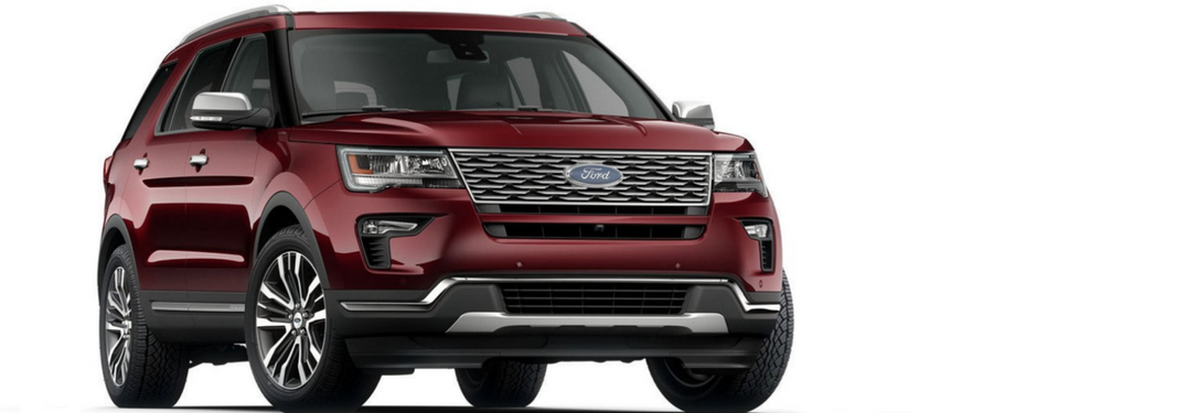 2018 Ford Explorer Platinum in red