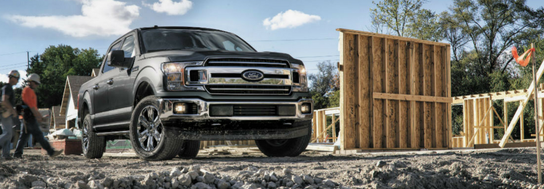 2018 Ford F-150 at construction site