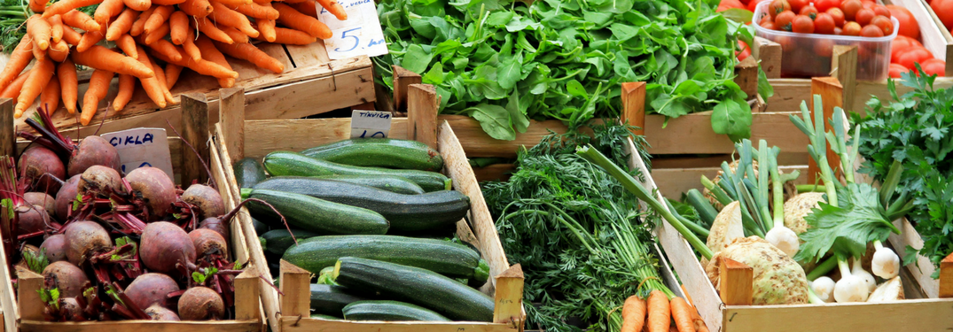 Assortment of fresh fruit and veggies - Best Local Farmers Markets near Savannah GA