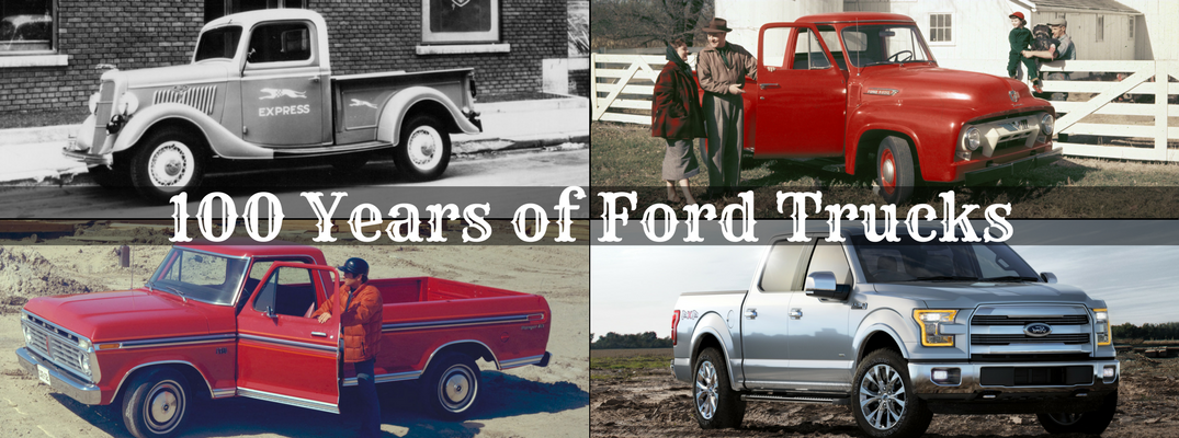 Collage of Ford trucks - Ford is Celebrating 100 Years of Truck Innovation and Development