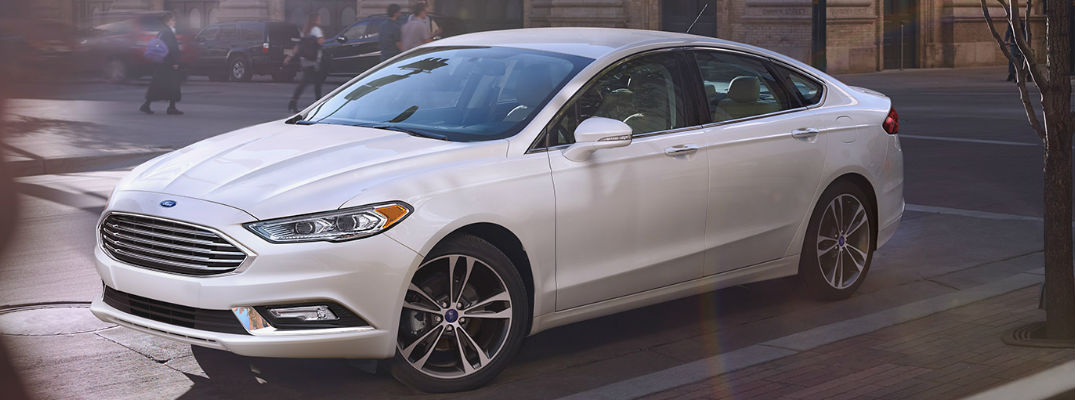 2017 Ford Fusion White Exterior - 2017 Ford Fusion with Enhanced Active Park Assist