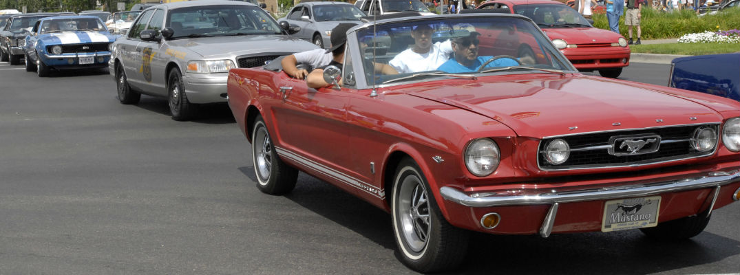 Red Ford Mustang - Why is Ford sponsoring the 2017 Woodward Dream Cruise?