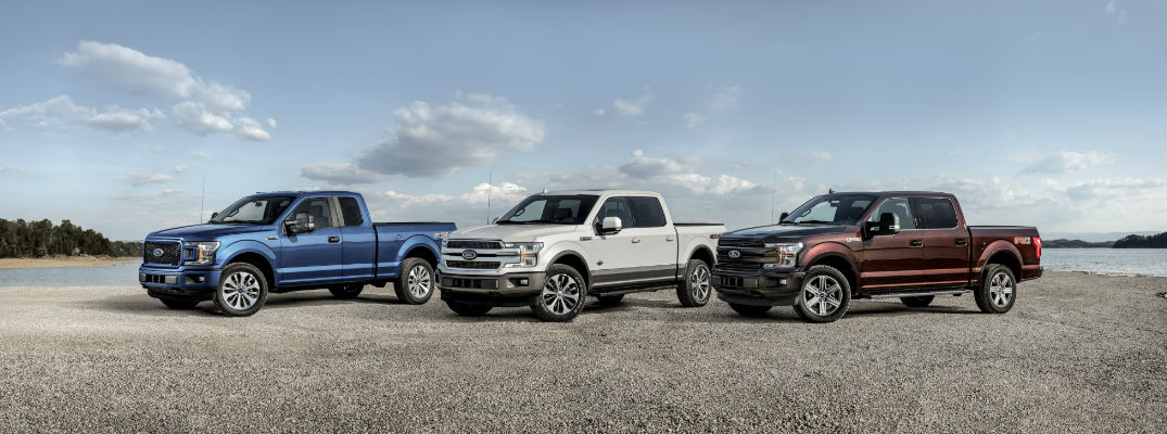 Three 2018 Ford F-150 Pickup Trucks