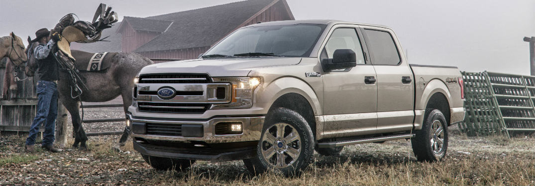 2018 Ford F-150 silver front view