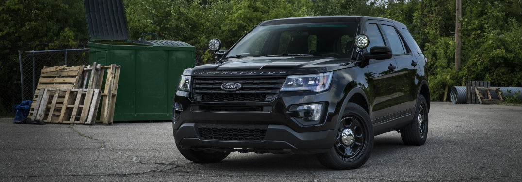 2016 Ford Police Interceptor Utility front view