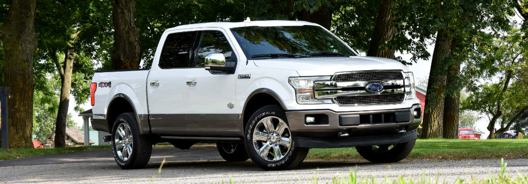 2018 Ford F-150 front view white